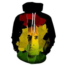 Male 3D Digital <b>Printing</b> Star Reggae <b>Bob Marley</b> Leisure Fashion ...