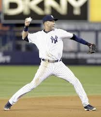 Derek Jeter prepares to throw to first base in a game Oct. 13, 2012.