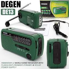 DEGEN <b>DE13 FM AM</b> SW Crank Dynamo Solar Power Emergency ...