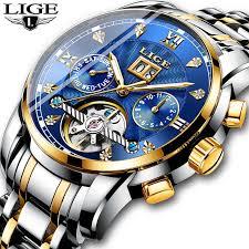 <b>LIGE</b> Mens Watches Fashion Top Brand <b>Luxury</b> Business ...