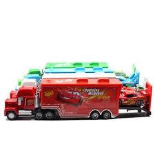 Disney Pixar <b>Cars</b> 2 <b>Toys 2pcs</b> Lightning McQueen Mack Truck The ...