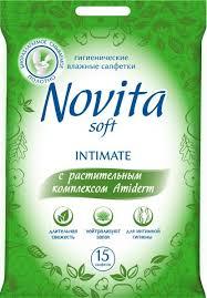 """Влажные <b>салфетки для интимной гигиены Novita</b> """"Intimate ..."""
