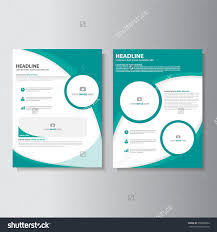 green brochure a flyer leaflet template set for marketing and save to a lightbox