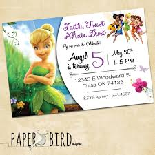 tinkerbell invites disney fairies custom birthday invitation custom invitation tinkerbell fairies printable invitation