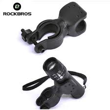 rockbros bicycle light bracket clip flashlight stand rotatable front lamp double holder handlebar accessories