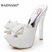 <b>WADNASO Summer</b> Elegant High Heels 15cm Fine Transparent ...