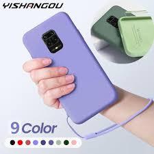 <b>Liquid Silicone Soft Phone</b> Cover Case For Xiaomi Redmi Note 9 9s ...