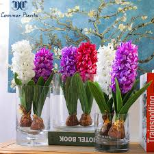<b>1 PCS Artificial</b> Flower Hyacinth with Bulbs Home Table Bonsai ...