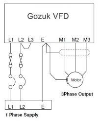 single phase vfd 220v input output single phase vfd installation diagram