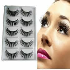 <b>Gracious Makeup</b> Handmade <b>5pairs</b> Natural Long False Eyelashes ...