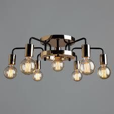 Потолочная <b>люстра Arte Lamp</b> Gelo <b>A6001PL</b>-<b>7BK</b> - купить в ...