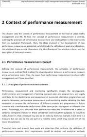 key performance indicators for traffic management and intelligent then the steps involved in the development of new performance measures are presented which