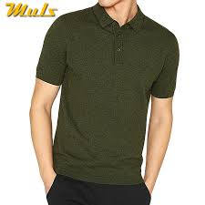 9Colors Summer <b>Men</b> Sweater Polos <b>100</b>% <b>Cotton Knitted</b> Basic ...