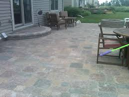 decoration pavers patio beauteous paver: brick  exterior simple exterior interesting outdoor flooring decoration with using paver patio step exterior along with glass sliding front door and grey wood siding design and be equipped wood chair wood ta