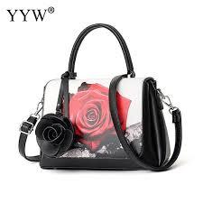 <b>YYW</b> Luxury Handbags Women Bags Designer <b>Rose</b> Printed Top ...