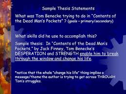 "the most dangerous game"" essay  copy this   this will be     sample thesis statements what was tom benecke trying to do in ""contents of the dead"
