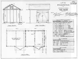 NP Structures  amp  Plans   Tool House  Double  amp  Single Standard Plan   Tool House Plan  amp  Elevation