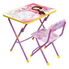 Комплект <b>Nika</b> (<b>Ника</b>) Умничка Стол-Стул Маленькая принцесса ...