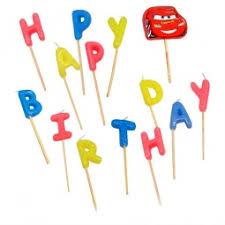 <b>Свечи</b>-<b>буквы Procos</b> «Тачки Happy Birthday» купить по низкой ...