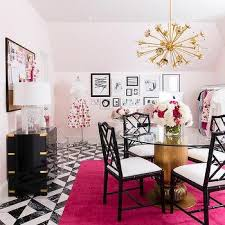 pale pink office walls black and white office design