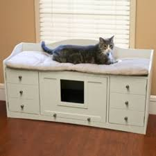 cat beds furniture top has cushioned area for kitty to lounge hide her litter cat litter box furniture 2