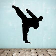 Karate / <b>Taekwondo Wall</b> Decal - Standing Kick Martial Arts / <b>Sports</b> ...