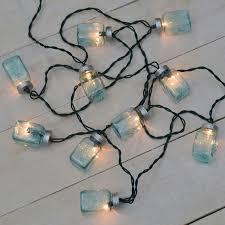 blue mason jar party string lights 10 lights blue mason jar string lights