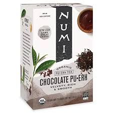 Numi <b>Organic Tea Pu</b>-<b>erh</b>, Box of <b>Tea</b> Bags (<b>Chocolate Pu</b>-<b>erh</b>, 16 ...