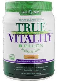 Green Foods <b>True Vitality Plant</b> Protein Powder, Vanilla, 15g Protein ...