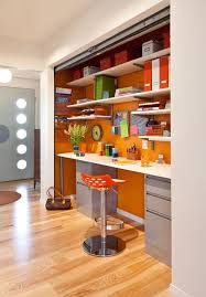 colorful mid century modern residence midcentury home office century office