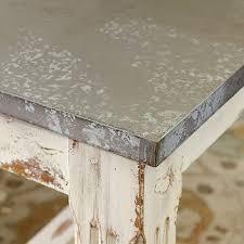 images zinc table top: salt marsh cottage faux zinc tabletop super easy tutorial