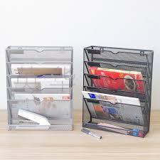 <b>Five</b> Layer Magazine <b>Rack Metal</b> Iron Mesh Edge <b>Grid Shelf Storage</b> ...