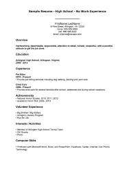 example of a resume no work experience template example of a resume no work experience