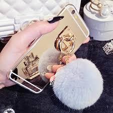 Ayeena Luxury Fashion Rabbit fur pompom <b>Fluffy</b> ball Chain ...