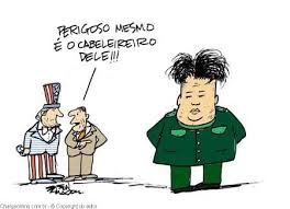 Resultado de imagem para charges -Coréia do Norte