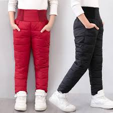 Casual Girl <b>Boy Winter Pants</b> Cotton Padded Thick Warm Trousers ...