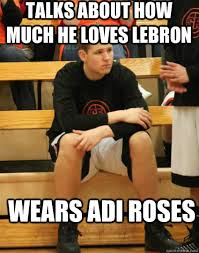 Talks about how much he loves lebron Wears adi roses - Juvenile ... via Relatably.com