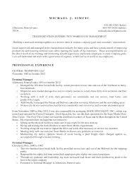 dock supervisor resume warehouse manager resume templates