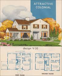 Mid Century Modern Colonial House Plan   Style Trends     National Plan Service   Colonial