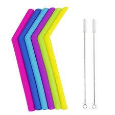 Beautyolove 6Pcs Silicone Drinking Straws 2Pcs ... - Amazon.com