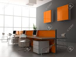 Stock Photo The Modern Office Interior Design 3d Render  Modern Office Interior