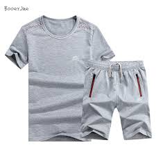 2019 <b>Summer Linen Short Set</b> Men Brand Tshirt Men Breathable ...