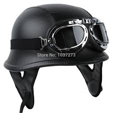 <b>New</b> Motorcycle Scooter Mopeds Half Face German Style <b>Novelty</b> ...