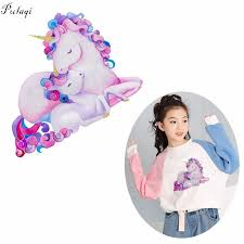 <b>Pulaqi Cute Unicorn</b> Iron On Transfers Horse Mom Little Unicorn ...