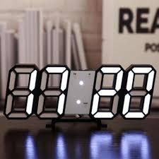 3D LED Digital Electronic Alarm Clock Creative Three-dimensional ...