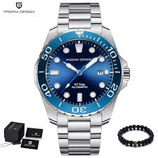 PAGANI Design <b>Brand Men Luxury</b> Watches Automatic Blue Watch ...