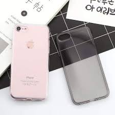 Super Slim Transparent <b>Pure</b> Color <b>Soft Silicone</b> Gel Case For iPhone