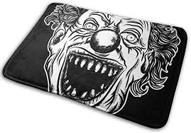 Doormat indoor,<b>Halloween Devil</b> Scary <b>Clown</b> Front Head. <b>Smiling</b> ...