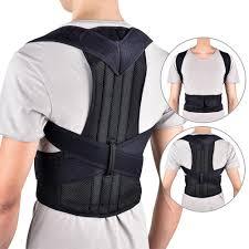 Unisex <b>Adjustable Adult Corset Back</b> Posture Corrector Shoulder ...