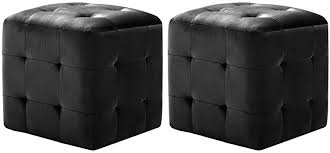 H.BETTER 2 pcs Pouffe 11.8